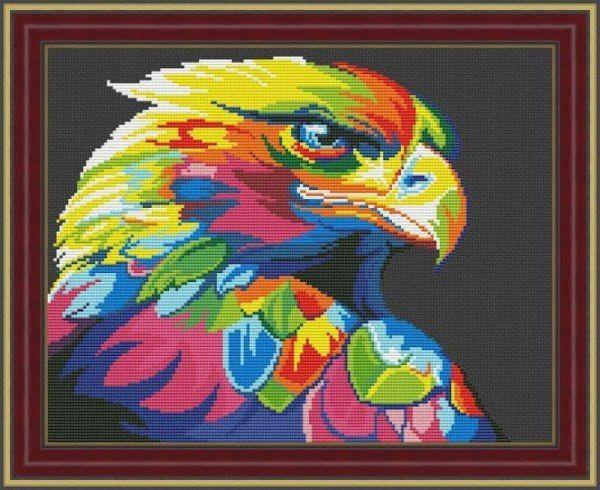 Радужные животные СХЕМЫ 20 фотографий схема вышивки 50