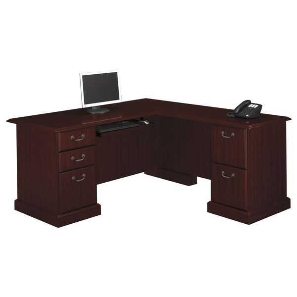 Bennington Executive L Desk In Harvest Cherry From Kathy