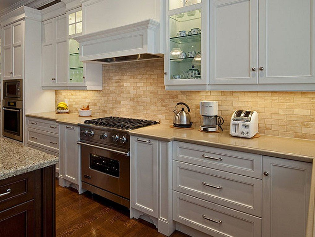White Kitchen Cabinet Backsplash Ideas Page From Small Pictures