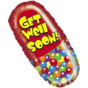 Get Well Pill Helium Shape
