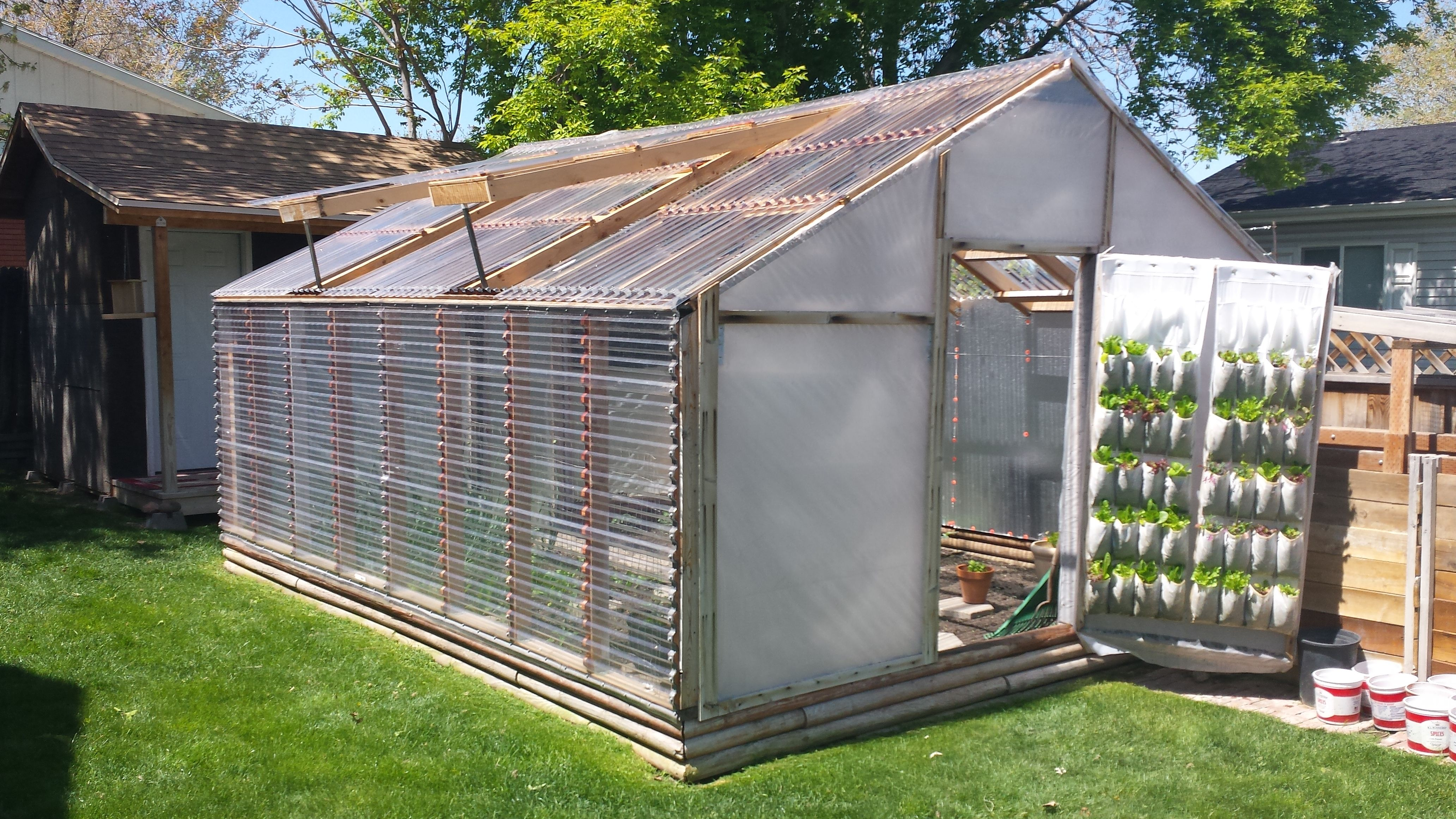 Greenhouse Updated From Pvc And Visqueen To Wood Frame And