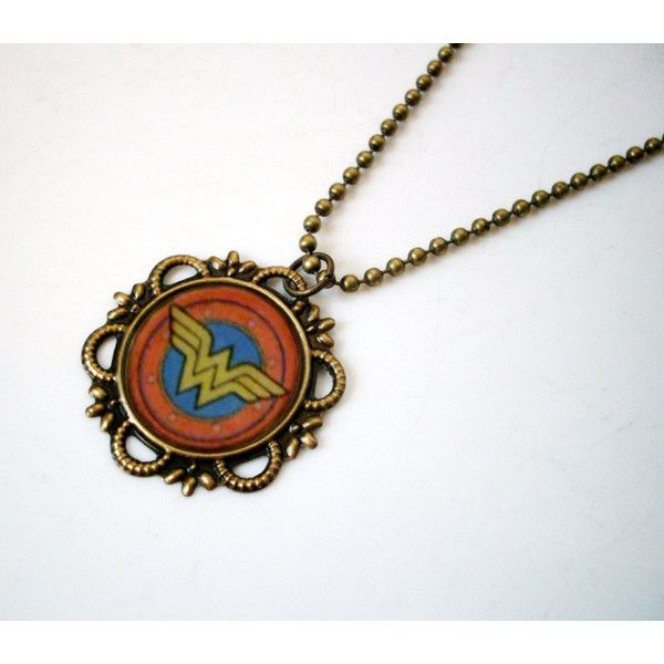 Wonder Woman Logo Necklace ($12) ❤ liked on Polyvore