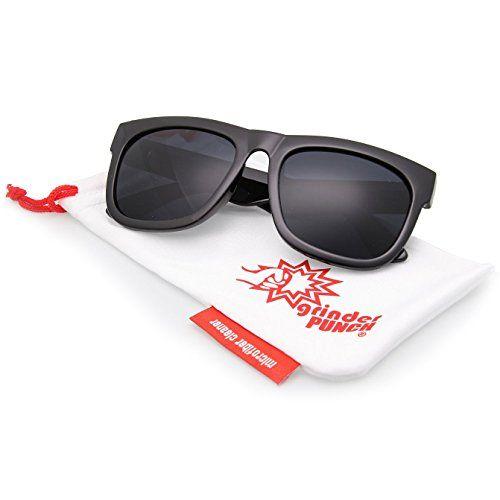 bf4e68c8d0 Oversized Wayfarer Sunglasses Super Dark Lens Black Thick Horn Rim Frame --  Check this awesome