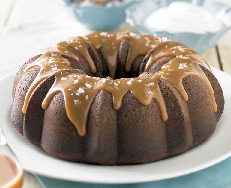 Salted Chocolate Caramel Cake Daisy Brand Sour Cream Cake Desserts Cake Recipes
