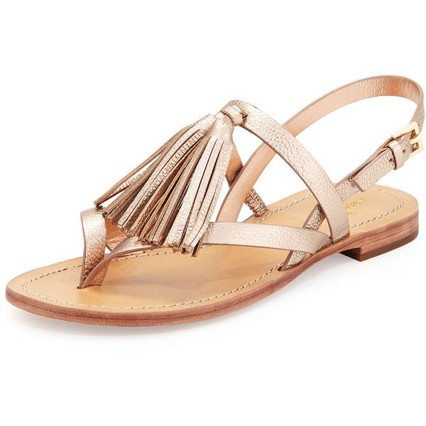 Kate Spade New York Womens Taselyb Luggage Vacchetta - Sandals