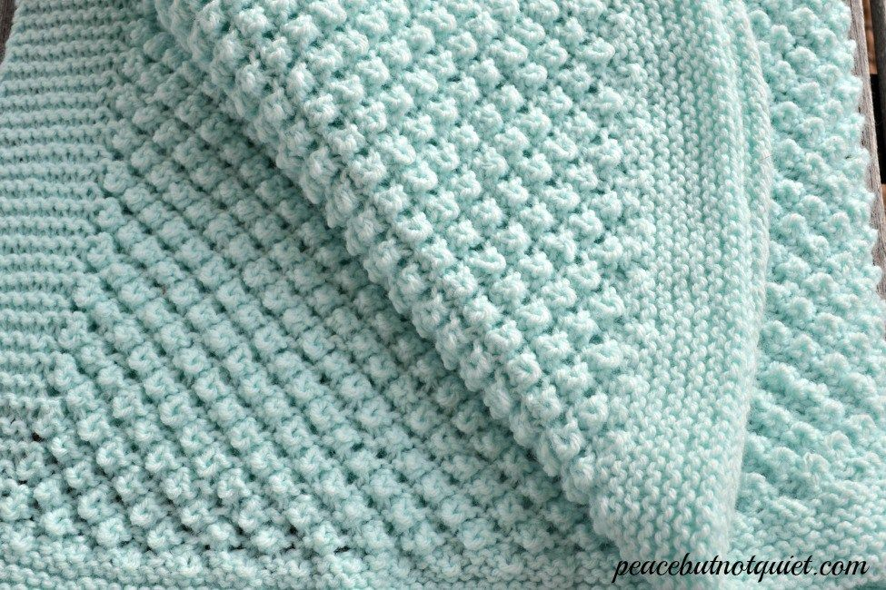 An adorable popcorn baby blanket pattern Baby knitting
