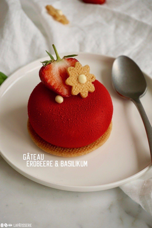 Gâteau Erdbeere & Basilikum