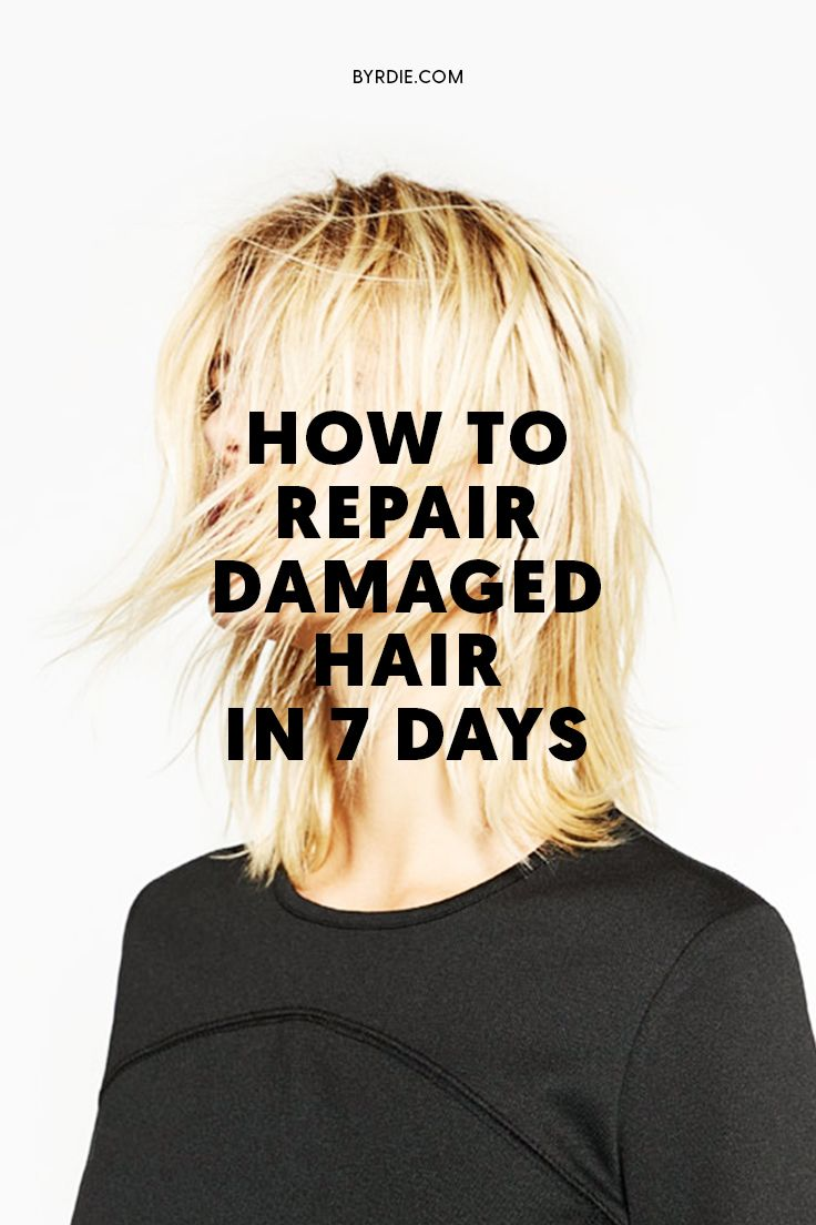 How to Fix Dry, Damaged Hair in a Week or Less