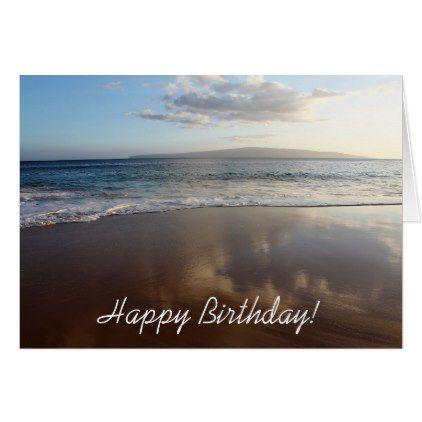 Beautiful Beach Happy Birthday Card Zazzle Com Beautiful