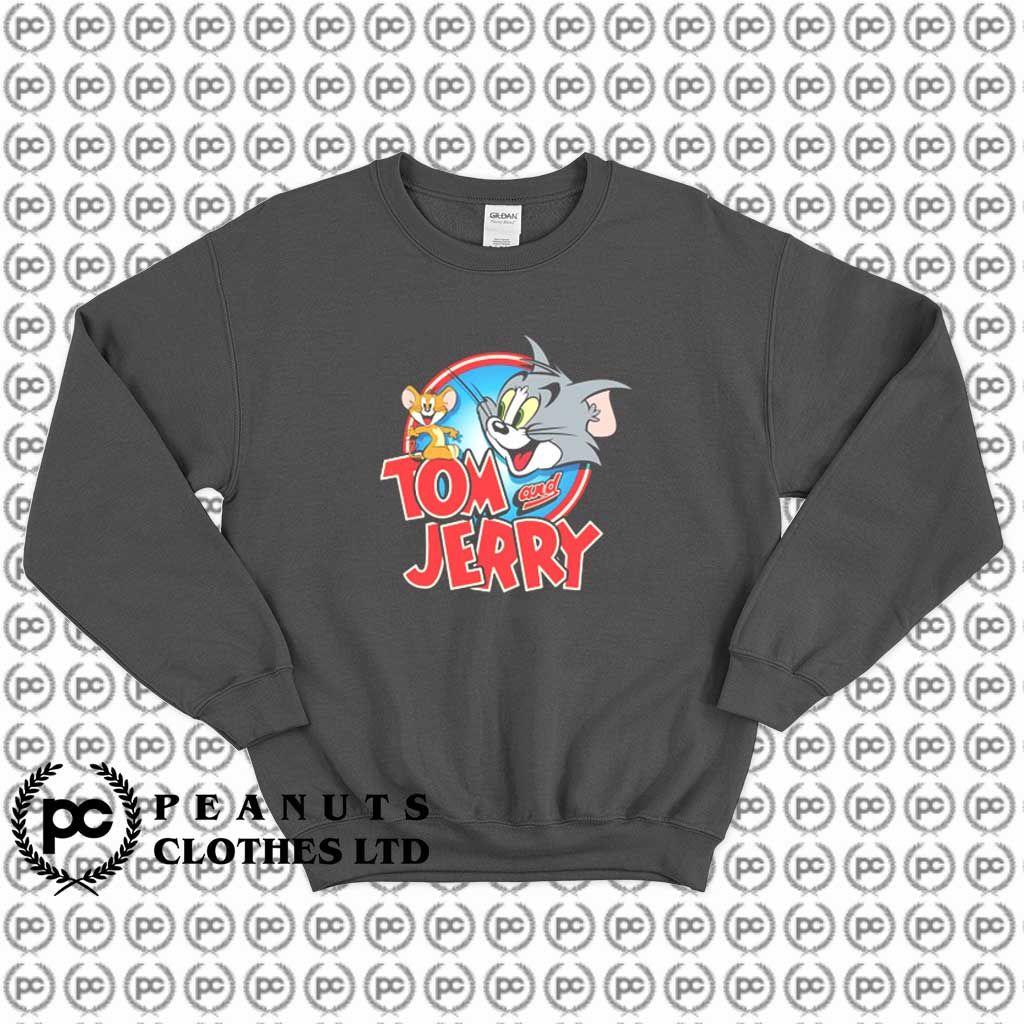 Get Buy Tom And Jerry Logo Opening Sweatshirt Custom Sweatshirts Unisex Sweatshirt Sew In Labels [ 1024 x 1024 Pixel ]