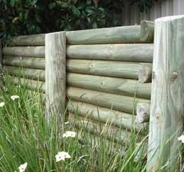 Pole Fence Designs A raised bed with telegraph poles google search a raised bed with telegraph poles google search workwithnaturefo