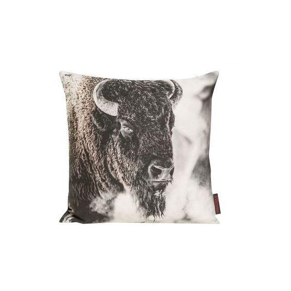Kissenhülle Wilderness Bison Home24 ($14) found on Polyvore
