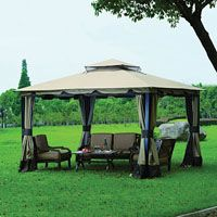 Wilson Fisher 10 X 12 Monterey Gazebo Replacement Canopy Garden Winds Gazebo Replacement Canopy Gazebo Gazebo Canopy