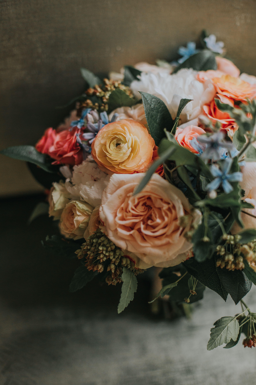 Wedding Profile: Summer Wedding At 19 East #rosebridalbouquet