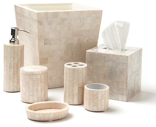 Mother Of Pearl Lacquer Bathroom Accessories Set In 2019