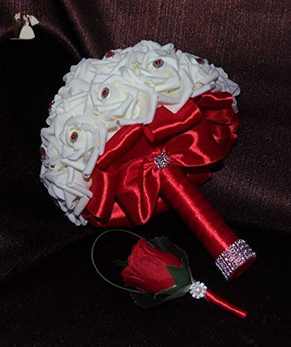 Made To Order Brooch Bouquet Wedding Bridal Flowers Real Touch