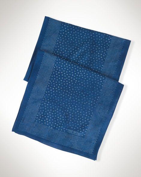 Indigo Star Cotton Scarf - Polo Ralph Lauren Scarves - RalphLauren.com