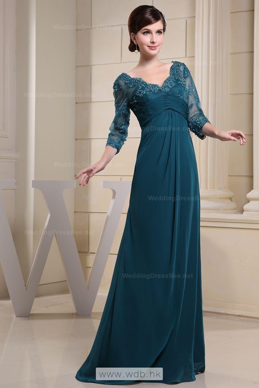 Vneck lace overlay top chiffon dress mothers pinterest