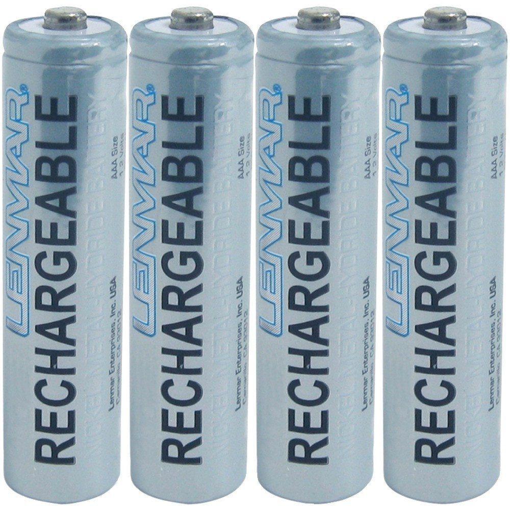 Lenmar 1000mah Aaa Nimh Batteries 4 Pk Usmart Ny Nimh Battery Nimh Rechargeable Batteries