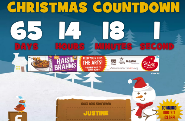 Here is a FREE Christmas countdown calendar for your computer that tells you exactly how ma ...