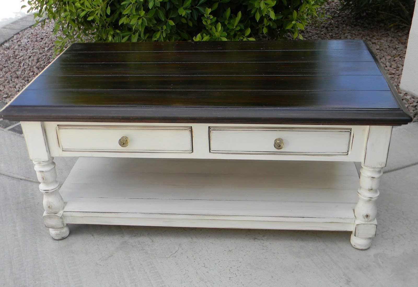 Little Bit of Paint Refinished Coffee Table Furniture