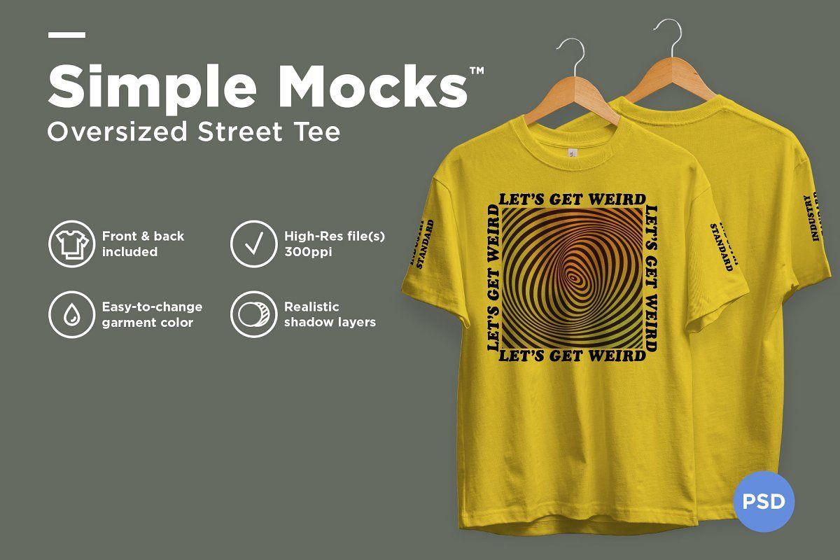 Download Oversized Street Tee Mockup Clothing Mockup Shirt Mockup Mockup Design