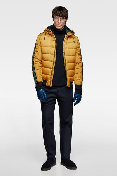 Solid Hooded Puffer Jacket