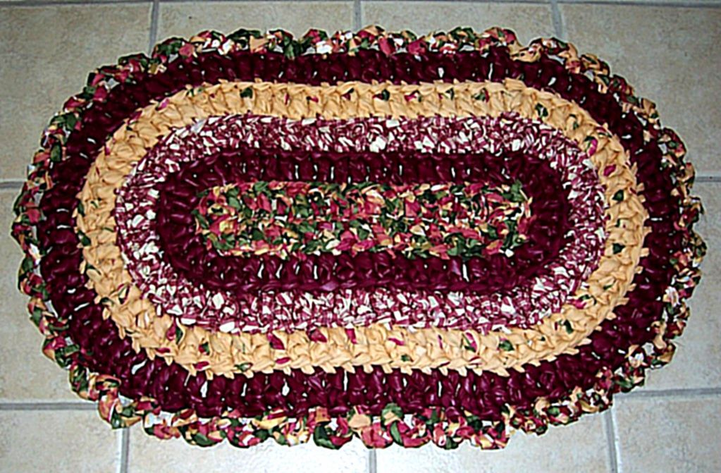 78 Best Images About Rag Rugs Baskets Such On Pinterest. Crochet Rectangle Rag  Rug Pattern