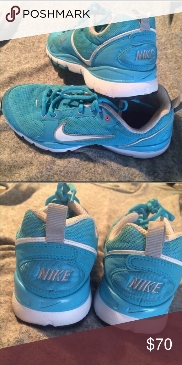 02acb6470357 Super cute Nike sneakers in excellent condition. Turquoise and white Nike  sneakers - very cute and comfortable. Size 7. Nike Shoes Sneakers