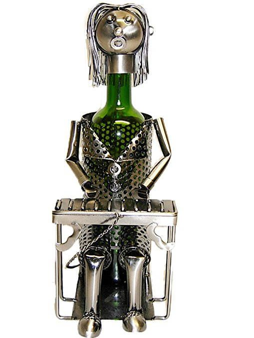 Pianist Piano Player Metal Wine Bottle Holder Character Wine