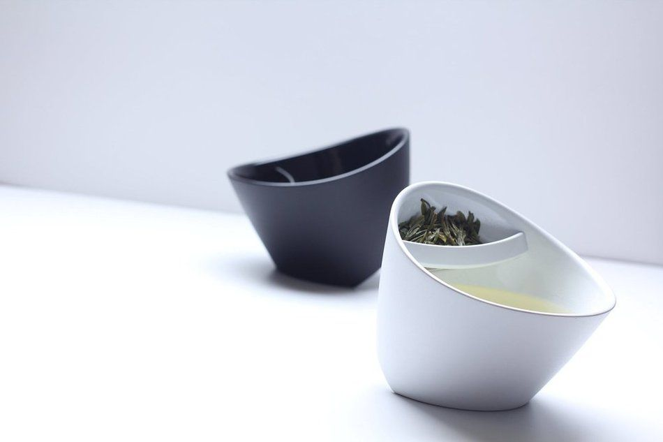 Special Design Teacup Tilt Tea Cup Tipping Teacup Personalized Smart Tea Cup Tilt With Tea Infuser (Black,White) #Affiliate