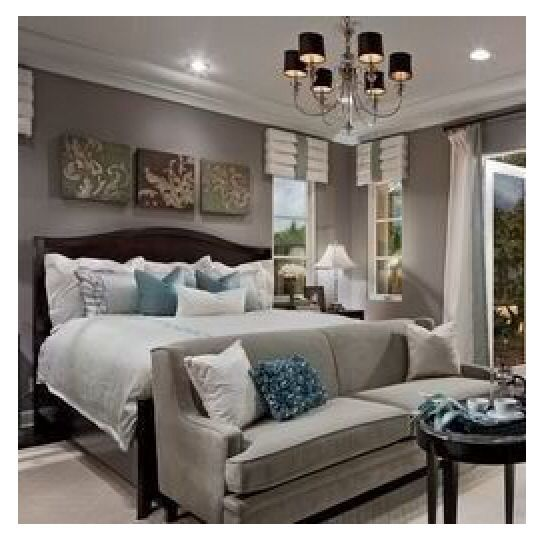 So Elegant Love A Sitting Area In A Master Bedroom By: Bedroom Setup With Three Canvas Photos Behind The Bed