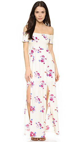 65ef47f35bf MINKPINK Women s Falling Blooms Print Off Shoulder Maxi Dress ...