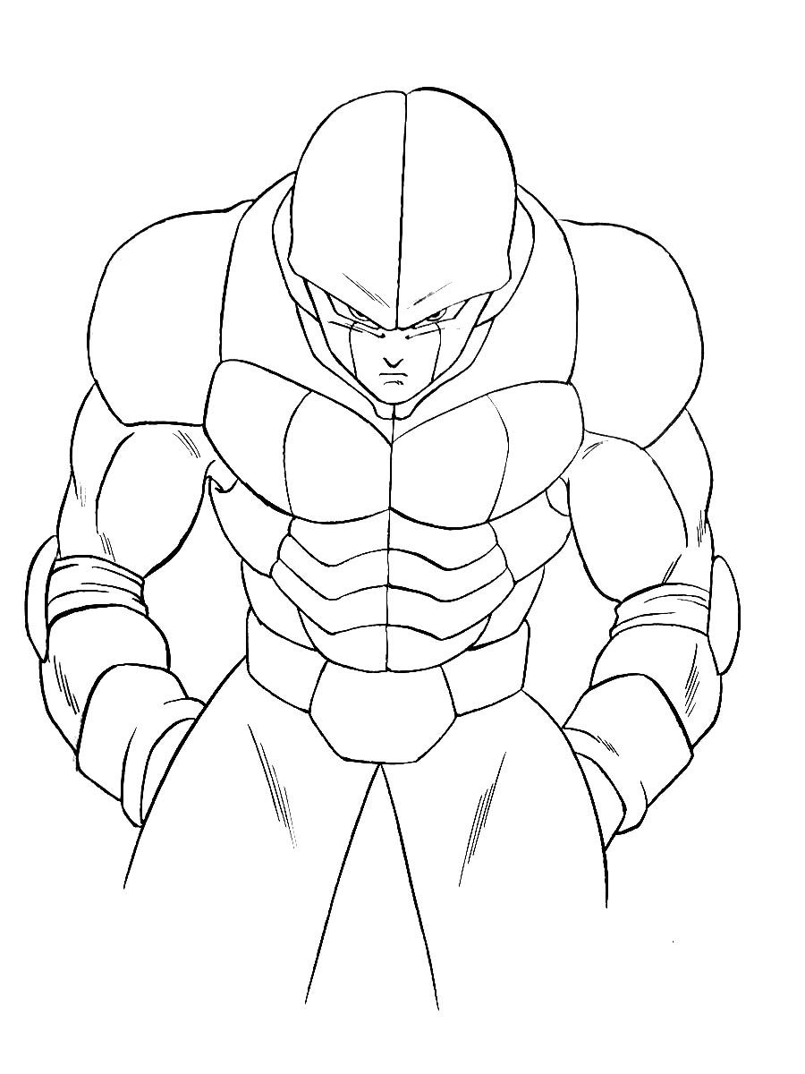 Dragon Ball Super Coloring Page With Few Details For Kids Hit