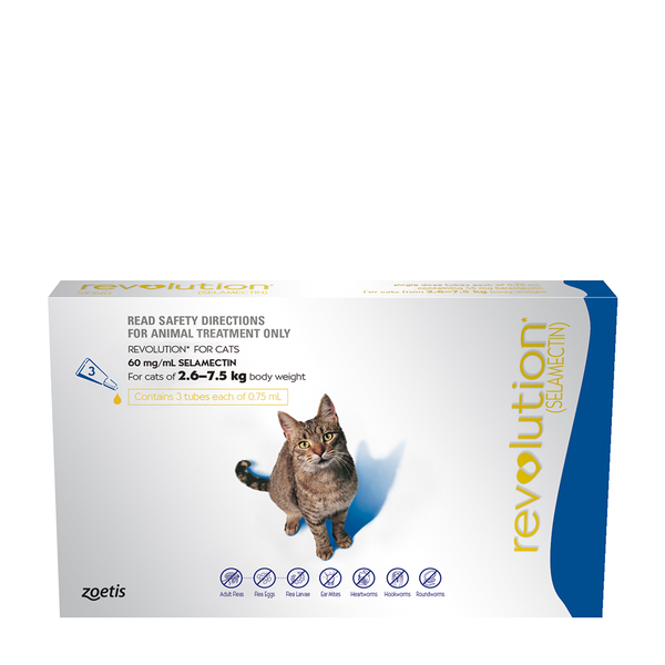 Revolution 2.6 7.5kg For Cats (With images) Animal