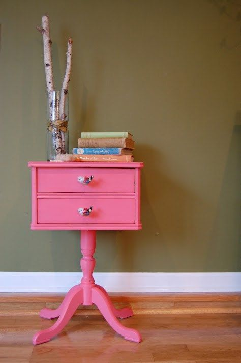 Vintage Adorable Sewing Craft Cabinet Storage / Side Table with ...