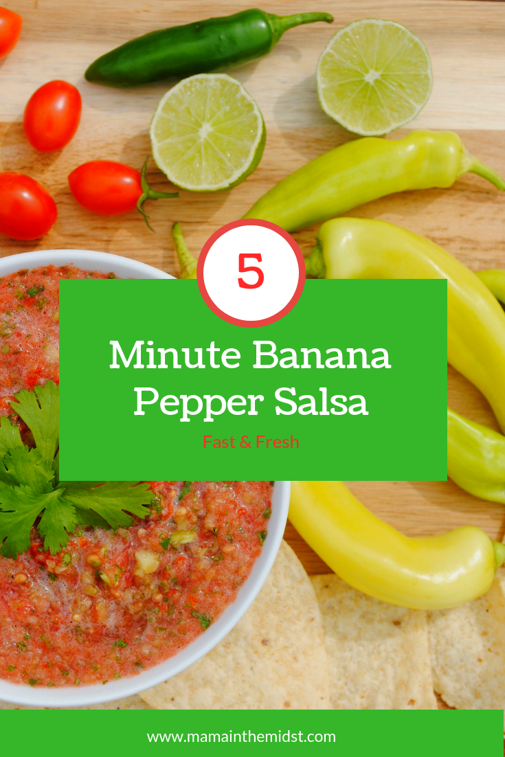 Easy Banana Pepper Salsa Mama In The Midst Recipe Stuffed Banana Peppers Recipes With Banana Peppers Stuffed Peppers