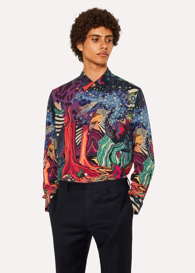 7f021820 Paul Smith Men's Slim-Fit 'Dreamer' Print Wool-Blend Shirt ...