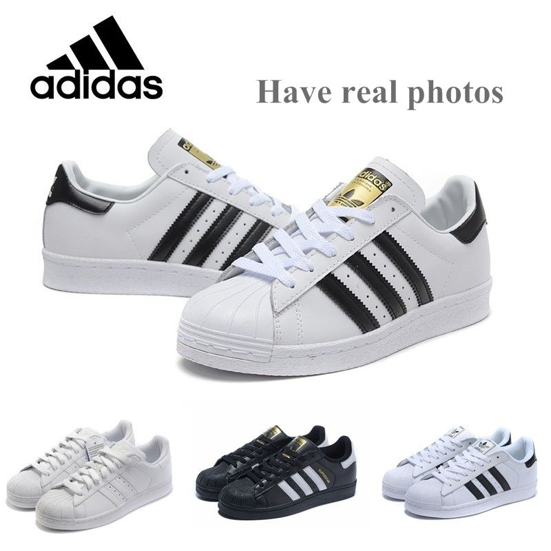 Real Picture Superstar shoes Top Quality 2016 New Fashion Men Women  Originals superstar GOLD and black White Price: PKR