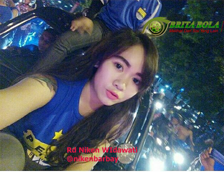 Lady Vikers Suporter Sepak Bola Persib Rd Niken Widawati
