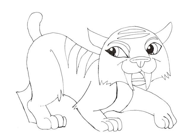 Pet Toralei Stripe Monster High Coloring Page  Monster High