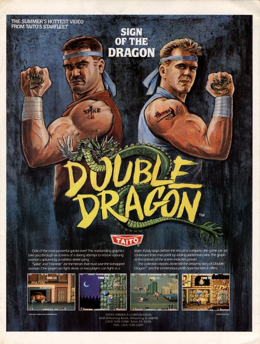 Double Dragon Video Game Retro 80s T Shirt