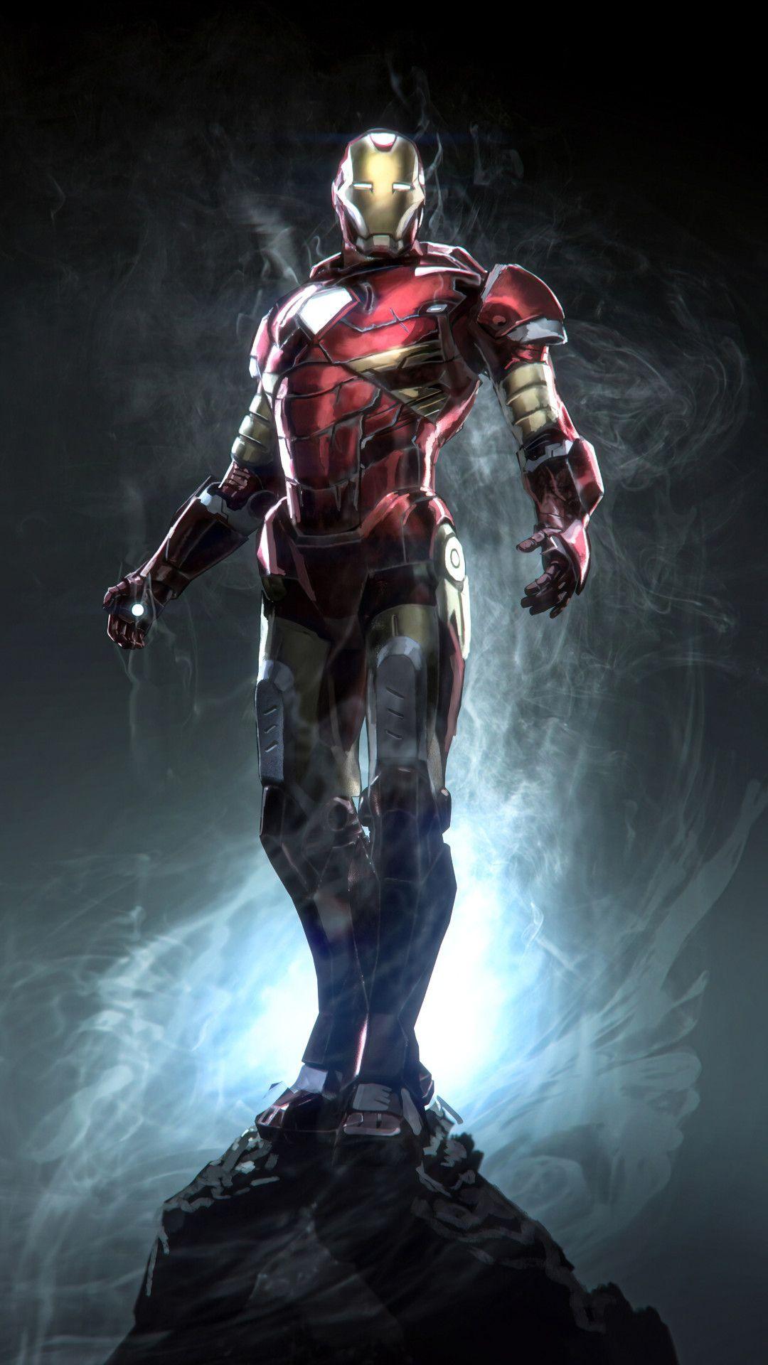 Iron Man Marvel Superhero Mobile Wallpaper (iPhone
