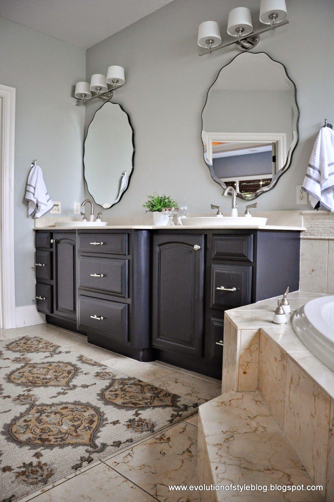dark gray bathroom vanity  restoration hardware bathroom