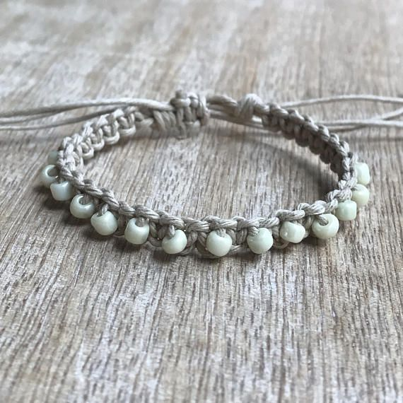 This lovely boho bracelet features earth tone color ...
