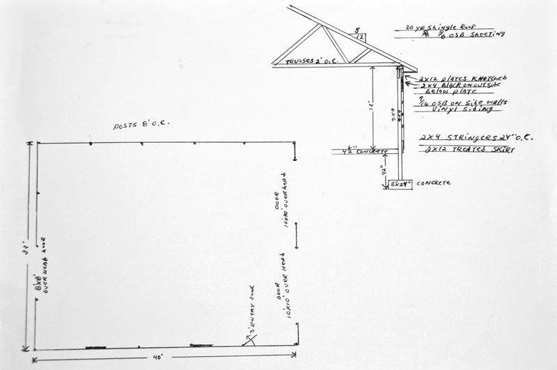 32x40 pole barn shop man cave the garage journal for 32x40 garage plans