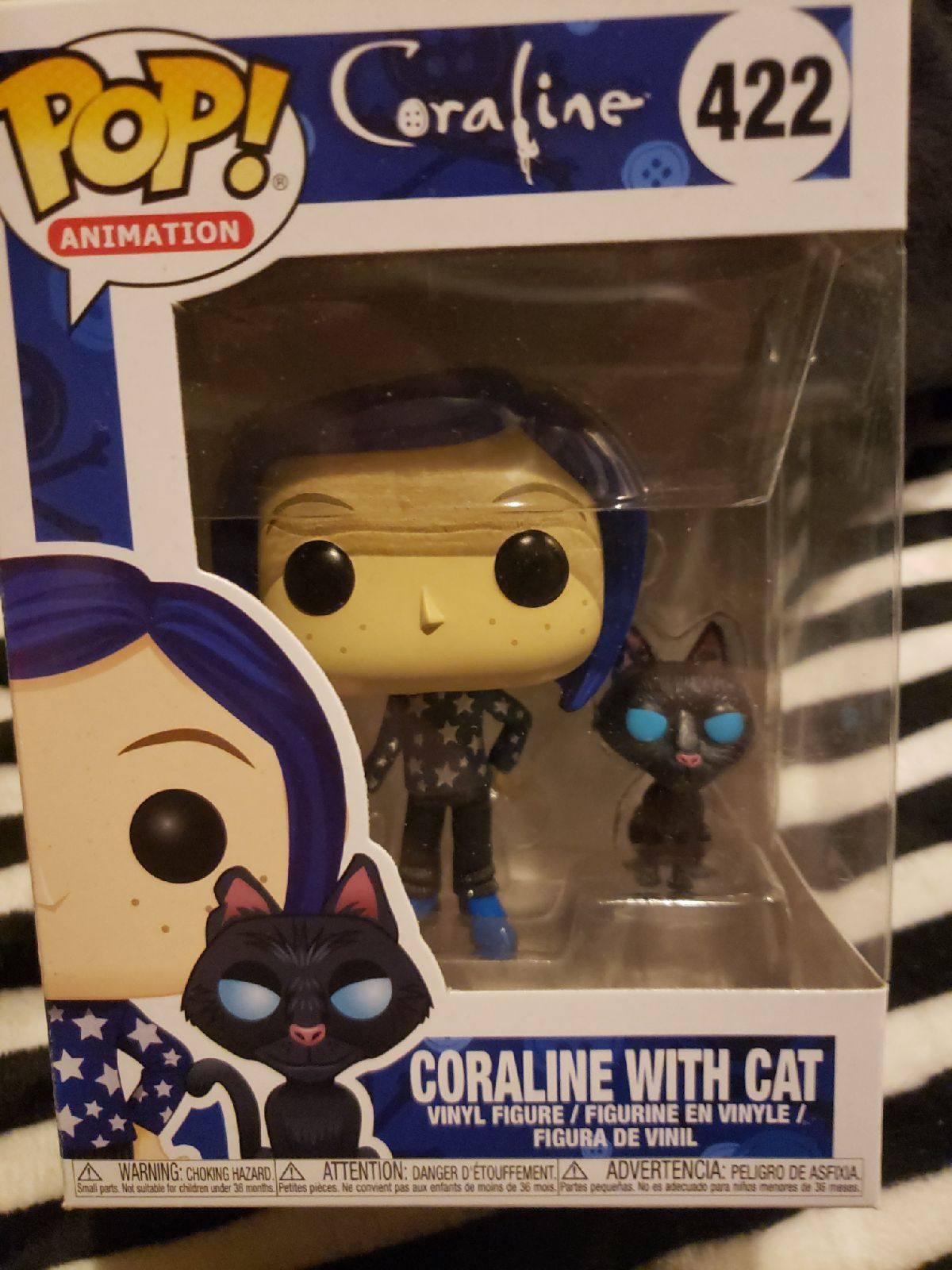Brand New Coraline With Cat Funko Pop Ready For You To Take Her Home And Add To Your Collection Coraline Funko Pop Vinyl Figures