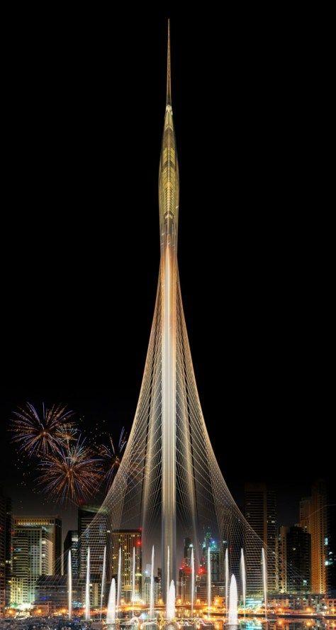 Santiago Calatrava wins competition for observation tower in Dubai Creek Harbor