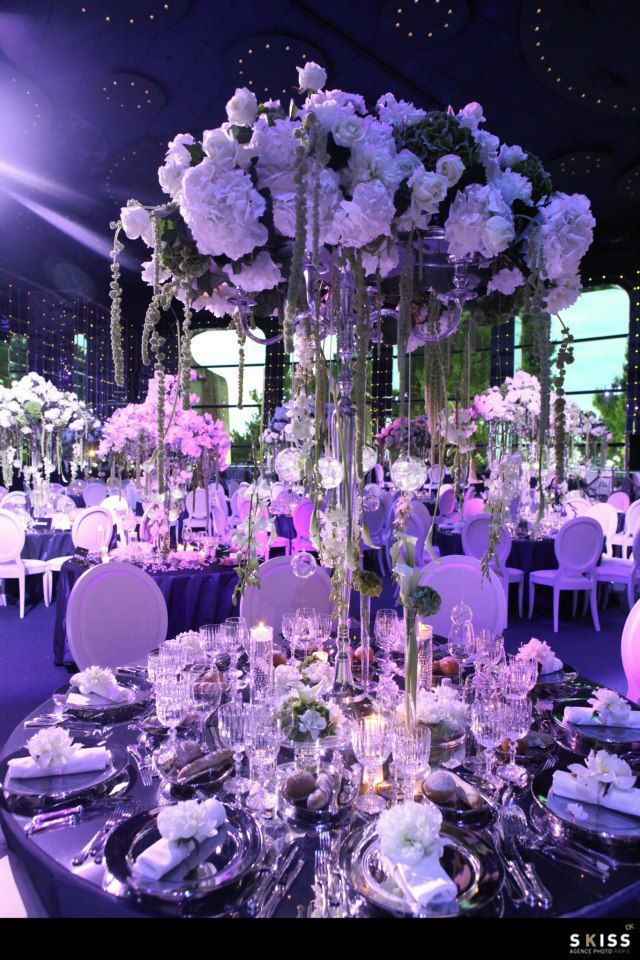 Round Tables//table Ronde ; Purple//violet ; Skiss ; Wedding/