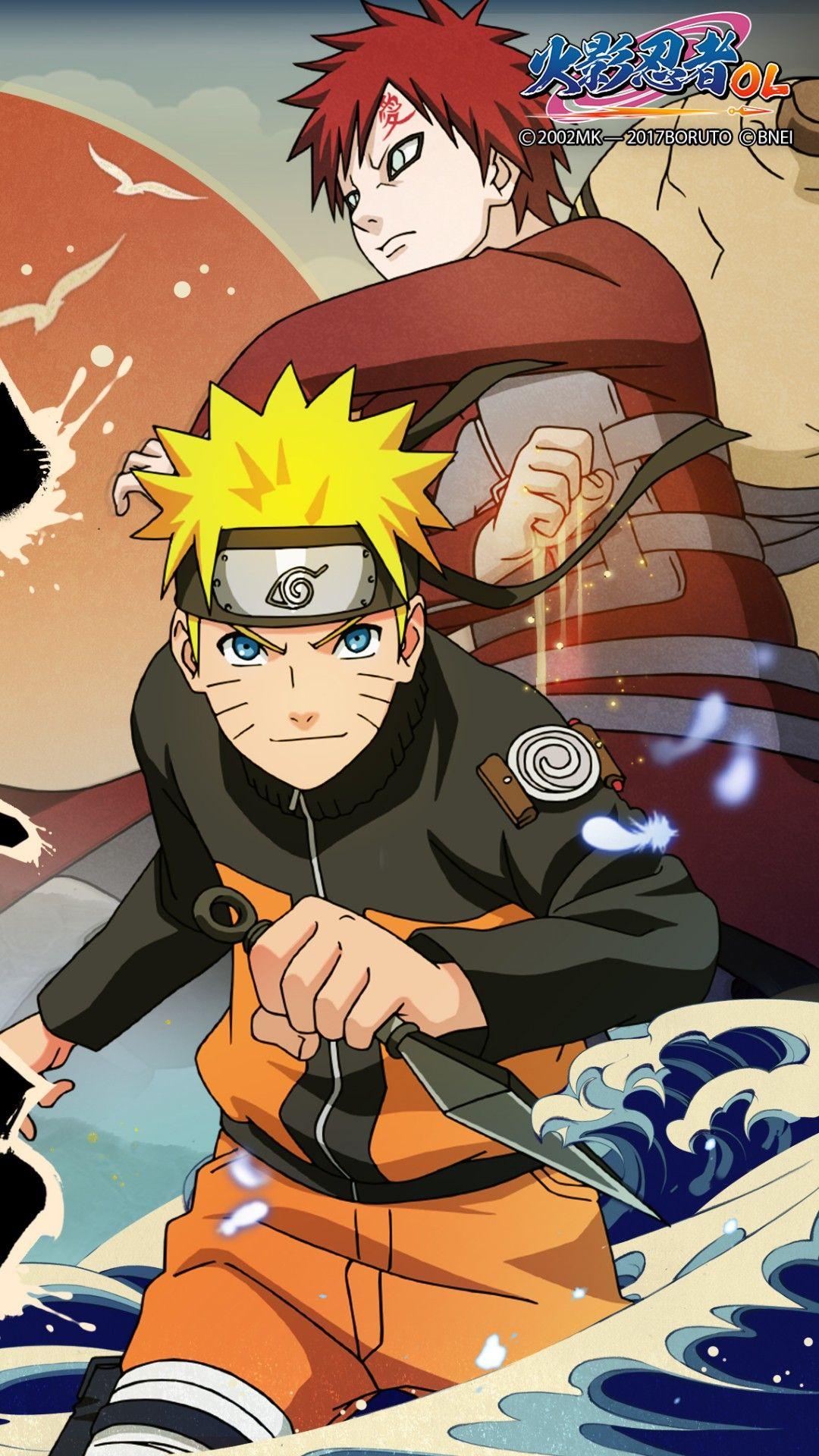 Wallpaper Phone Naruto And Gaara Full HD Naruto mangá
